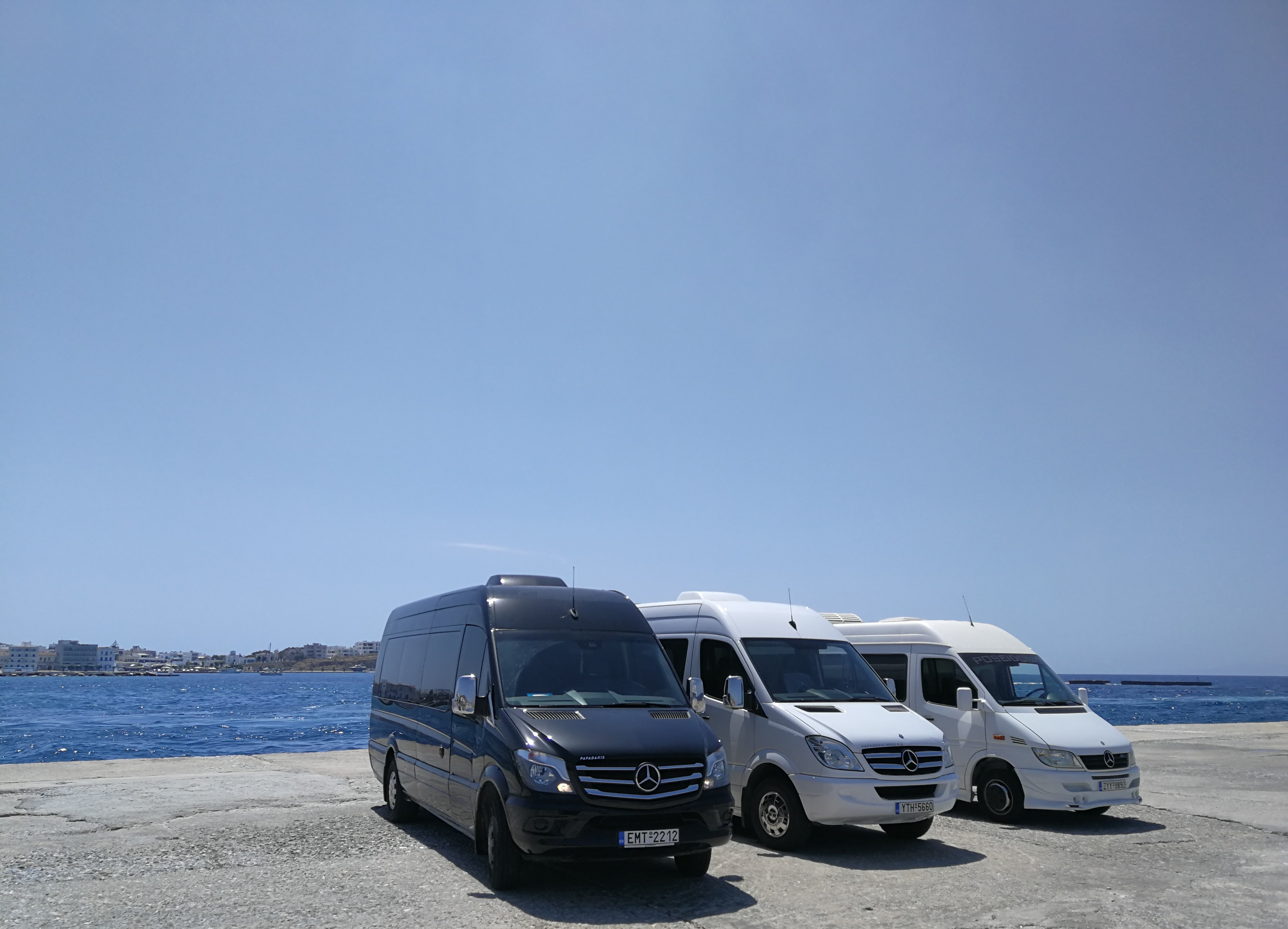 Transfer from Tinos Port by mini bus